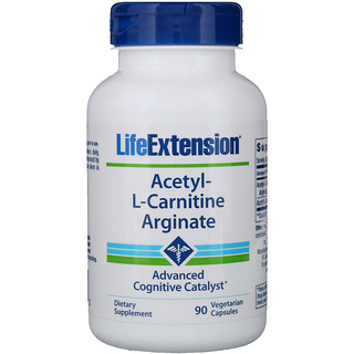 Life Extension, Acetyl-L-Carnitine Arginate, 90 Vegetarian Capsules