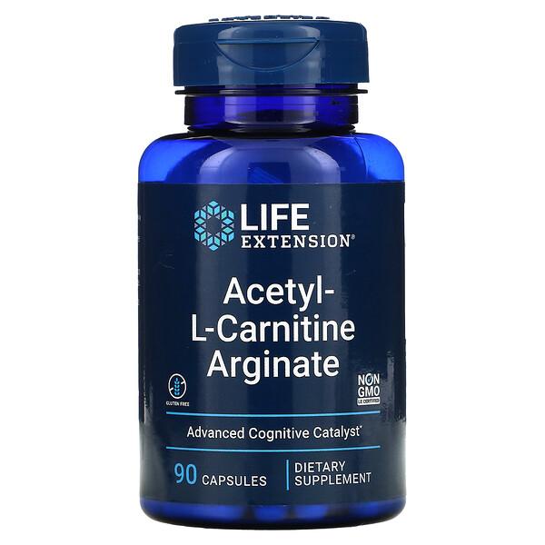 Acetyl-L-Carnitine Arginate, 90 Capsules