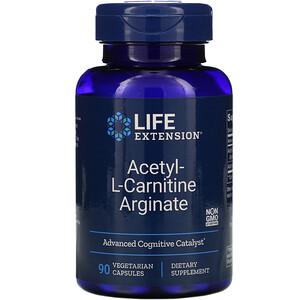 Лайф Экстэншн, Acetyl-L-Carnitine Arginate, 90 Vegetarian Capsules отзывы