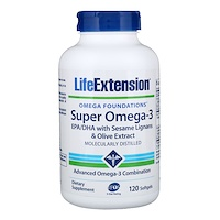 Omega Foundations, Супер Омега-3, 120 желатиновых капсул - фото