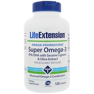 Life Extension, Omega Foundations, Super Omega-3, 120 Softgels