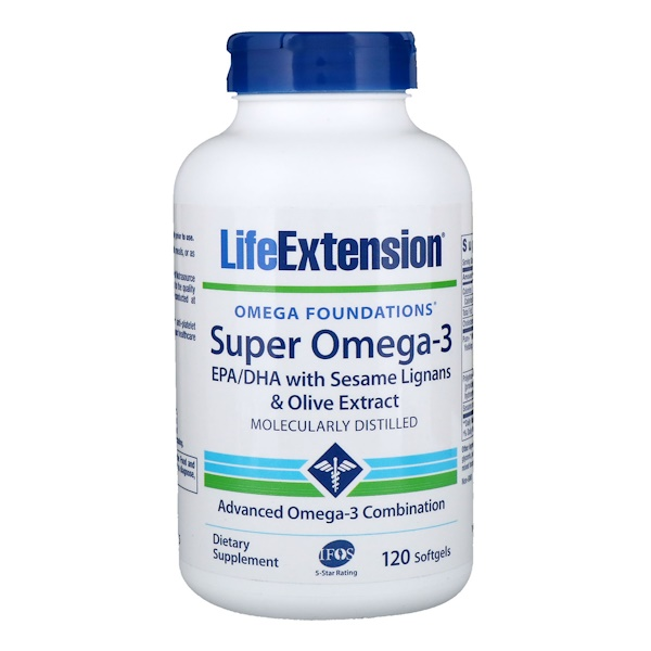 Life Extension, Omega Foundations, Super Omega-3, 120 קפסולות ג'ל