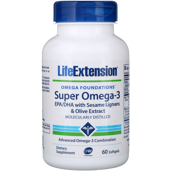 Life Extension, Omega Foundations, Super Omega-3, 60 Softgels