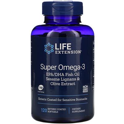 Купить Life Extension супер омега-3, 120мягких таблеток, покрытых кишечнорастворимой оболочкой