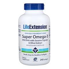 Life Extension, 오메가 파운데이션(Omega Foundations), 슈퍼 오메가-3(Super Omega-3), 240 소프트젤