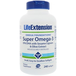 Life Extension, Omega Foundations, Super Omega-3, 240 Softgels