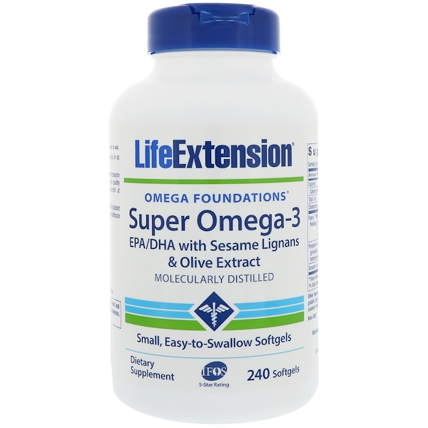 Life Extension, Omega Foundations, Super Omega-3, 240 Softgels