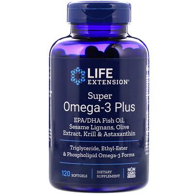 Купить Super Omega-3 Plus, 120 Softgels