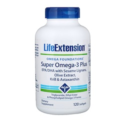 Life Extension, Omega Foundations, Super Omega-3 Plus, 120 Softgels