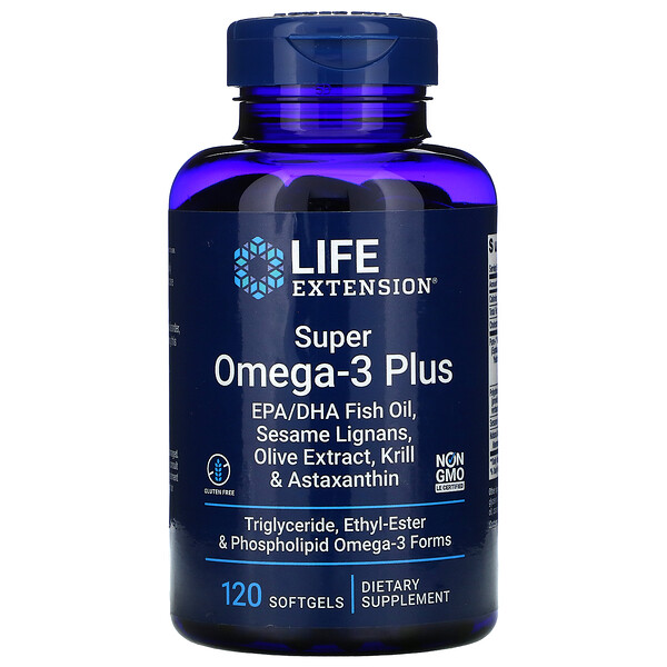 Life Extension, Super Omega-3 Plus, 120 Softgels
