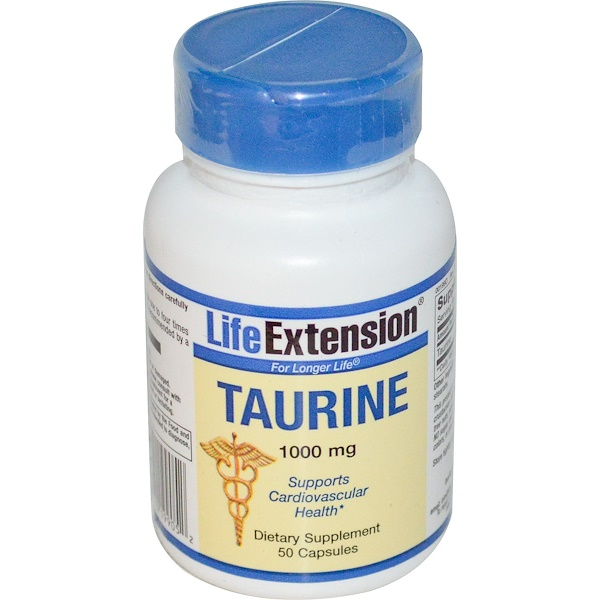 Life Extension, Taurine, 1000 mg, 50 Capsules (Discontinued Item)
