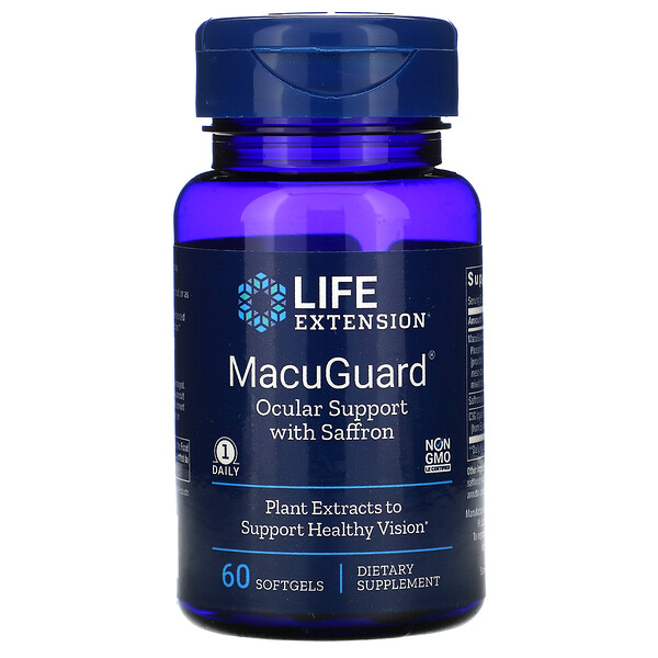 MacuGuard, Ocular Support with Saffron, 60 Softgels