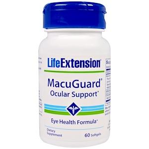 Life Extension, MacuGuard, Ocular Support, 60 желатиновых капсул