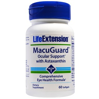 Life Extension, MacuGuard, Ocular Support with Saffron & Astaxanthin, 60 Softgels