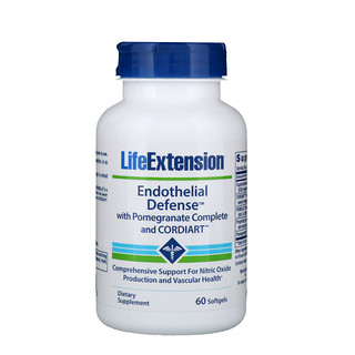 Life Extension, Endothelial Defense with Pomegranate Complete and Cordiart, 60 Softgels