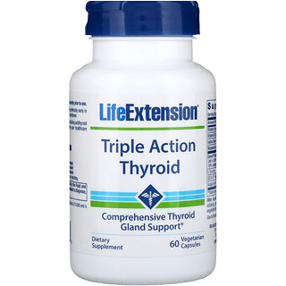 Life Extension, Triple Action Thyroid, 60 Vegetarian Caps
