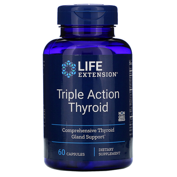 Triple Action Thyroid, 60 Vegetarian Capsules
