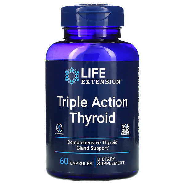 Triple Action Thyroid, 60 Capsules