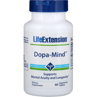 Life Extension, Dopa-Mind, 60 Vegetarian Tablets