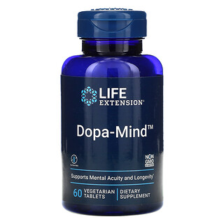Life Extension, Dopa-Mind, 60 Vegetarian Tablets