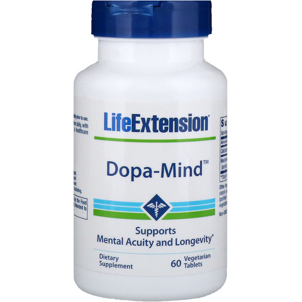 Life Extension, Dopa-Mind, 60 Comprimidos Vegetais