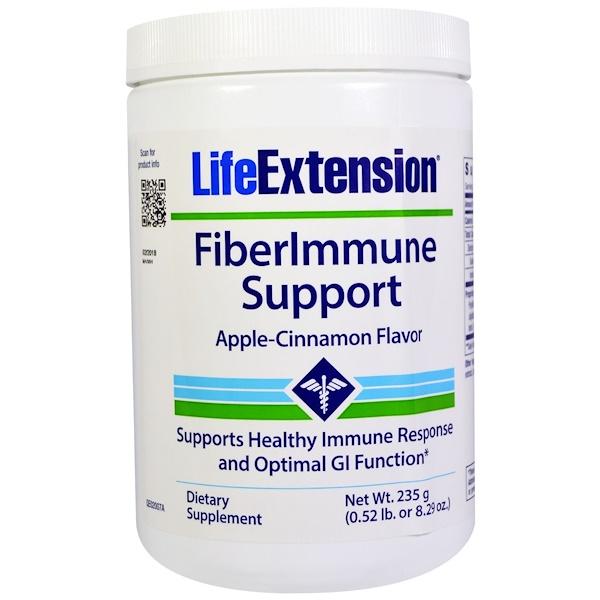 Life Extension, FiberImmune Support, Apple-Cinnamon Flavor, 8.29 oz (235 g) (Discontinued Item)