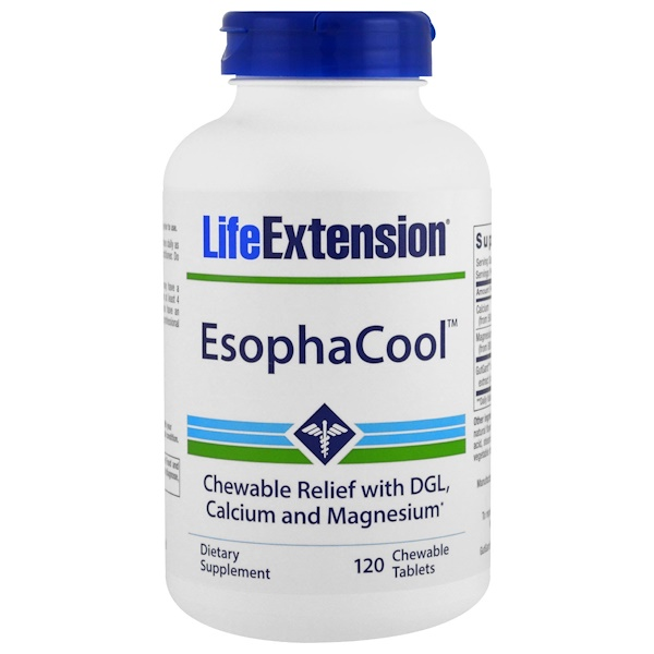 Life Extension, EsophaCool, 120 Chewable Tablets (Discontinued Item)