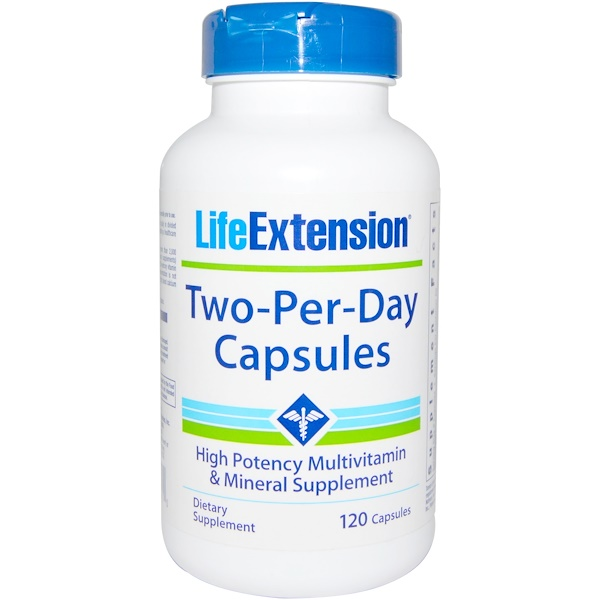 Life Extension, Two-Per-Dayカプセル, 120錠 (Discontinued Item)