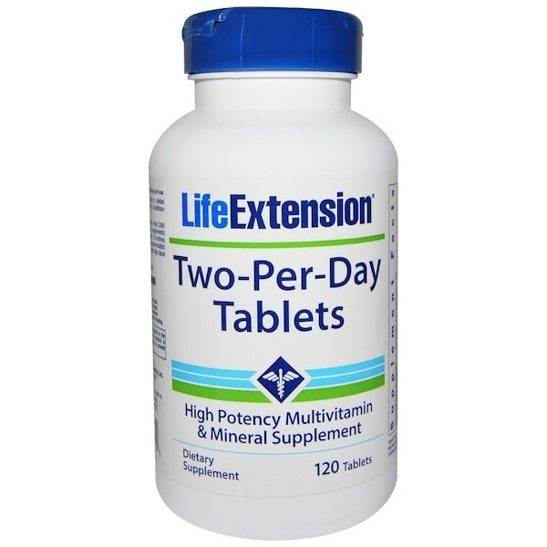 Life Extension, Two-Per-Day Tablets, High Potency Multivitamin & Mineral Supplement, 120 Tablets (Discontinued Item)