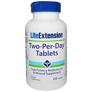 Лайф Экстэншн, Two-Per-Day Tablets, High Potency Multivitamin & Mineral Supplement, 120 Tablets отзывы