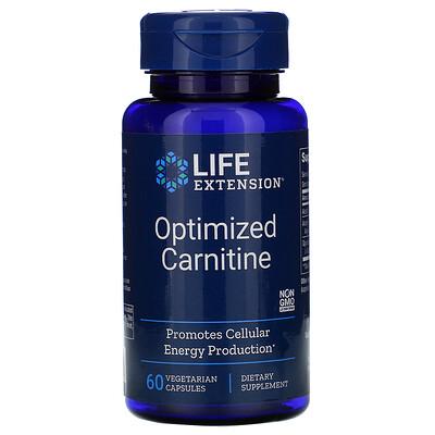 Купить Life Extension Оптимизированный карнитин, 60 вегетарианских капсул