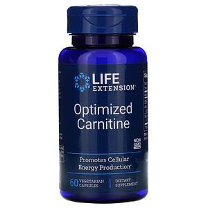 Лайф Экстэншн, Optimized Carnitine, 60 Vegetarian Capsules отзывы покупателей