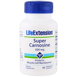 Life Extension, Super Carnosine, 500 mg , 60 Veggie Caps