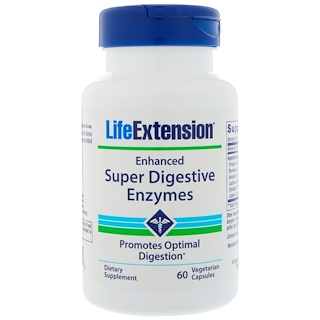 Life Extension, Enhanced Super Digestive Enzymes, 60 вегетарианских капсул