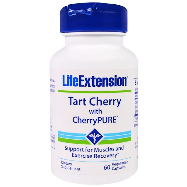 Life Extension, Tart Cherry Extract With CherryPure, 60 Veggie Caps