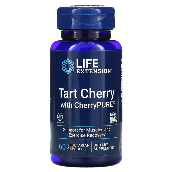 Life Extension, Tart Cherry with CherryPURE, 60 Vegetarian Capsules