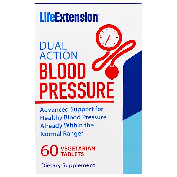 Life Extension, Dual Action Blood Pressure, 60 Veggie Tablets (Discontinued Item)