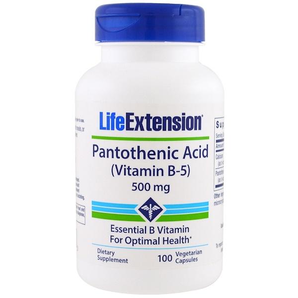 維生素維生素B維生素B5 - 泛酸:Life Extension, 泛酸,(維生素B-5)
