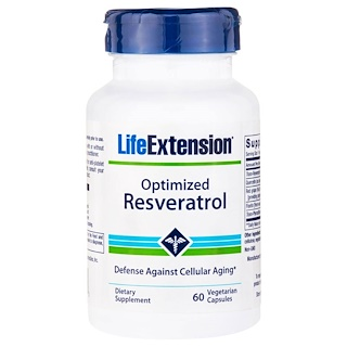 Life Extension, Optimized Reservatrol, 60 Veggie Caps