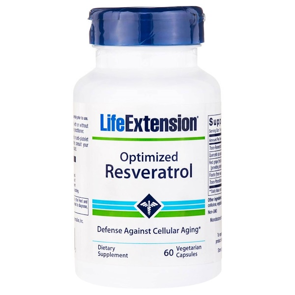 Life Extension, Optimized Reservatrol, 60 Veggie Caps