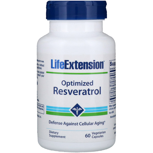 Life Extension, Optimized Resveratrol, 60 Vegetarian Capsules (Discontinued Item)