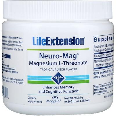 Фото - Neuro-Mag, L-треонат магния, со вкусом тропического пунша, 93,35 г (3,293 унции) pre workout explosion ripped со вкусом арбуза 168г 5 91унции