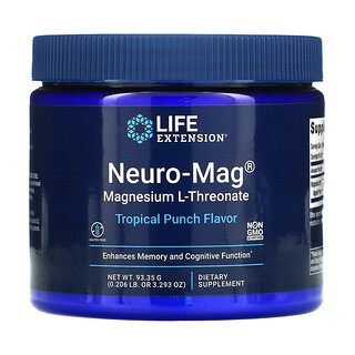 Life Extension, Neuro-Mag, Magnesium L-Threonate, Tropical Punch , 3.293 oz (93.35 g)