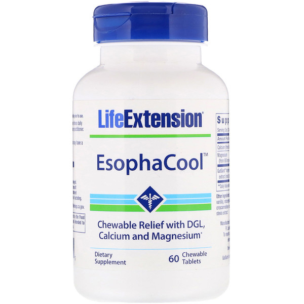 Life Extension, EsophaCool، 60 قرصًا قابلاً للمضغ