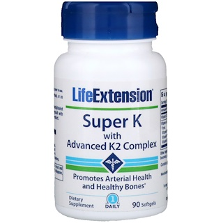 Life Extension, Super K mit Advanced K2-Komplex, 90 Softgelkapseln