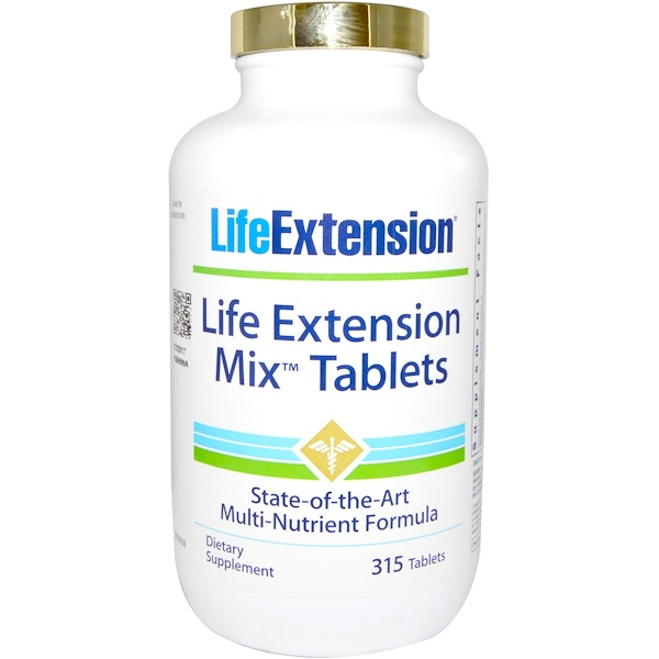 Life Extension, Mix Tablets, 315 Tablets (Discontinued Item)