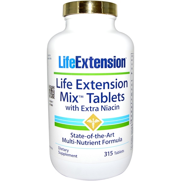 Life Extension, Mix Tablets, With Extra Niacin, 315 Tablets (Discontinued Item)