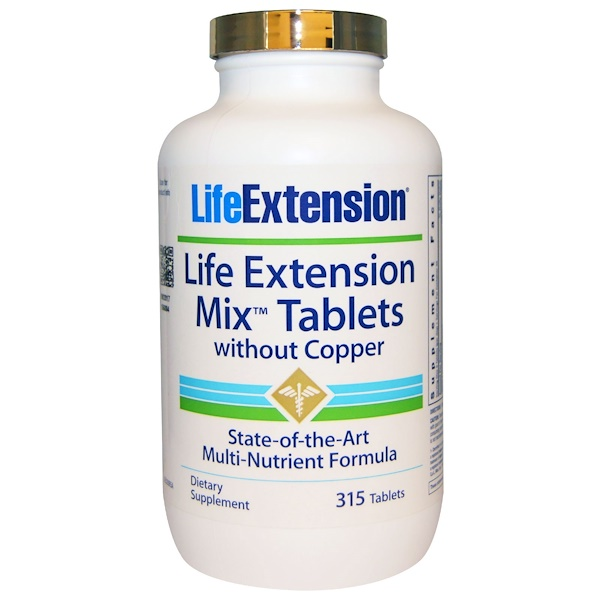 Life Extension, Mix Tablets, Without Copper, 315 Tablets (Discontinued Item)