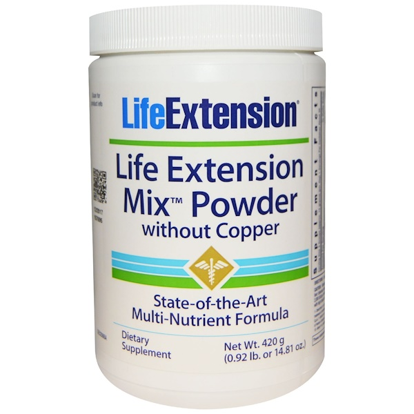 Life Extension, Mix Powder, Without Copper, 14.81 oz (420 g) (Discontinued Item)