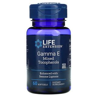 Life Extension, Gamma E Mixed Tocopherols, 60 Softgels